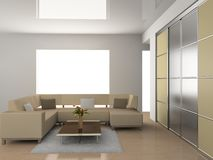 sofà della stanza Fotografia Stock Libera da Diritti