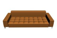 Sofà di cuoio del Brown Immagini Stock