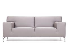 Sofà di cuoio grigio Immagine Stock