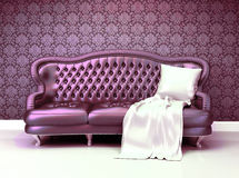 Sofà di cuoio lussuoso Immagine Stock