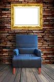 Sofà e blocco per grafici Fotografia Stock