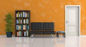 Sofà e pranzo-vagone angolari nell'interiore royalty illustrazione gratis