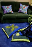 Sofà - interiori domestici Fotografia Stock Libera da Diritti