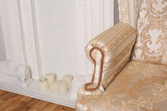 Sofà leggero del tessuto bracciolo dell'elemento Immagine Stock