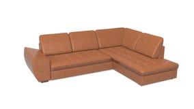 Sofà, mobilia isolata su fondo bianco Immagine Stock
