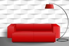 Sofà rosso Immagini Stock