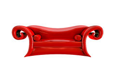 Sofà rosso dello strato illustrazione vettoriale