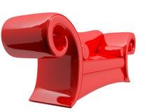 Sofà rosso dello strato Fotografie Stock