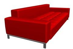 Sofà rosso di struttura Fotografia Stock Libera da Diritti