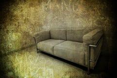 Sofà in una stanza Fotografia Stock