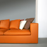 Sofá alaranjado 2 Imagem de Stock