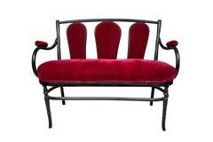 Sofá antiguo, banco rojo Imagen de archivo
