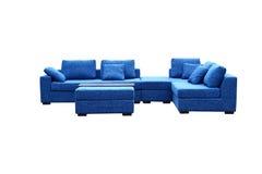 Sofá azul Fotografía de archivo libre de regalías