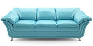 Sofá azul del lither Foto de archivo libre de regalías