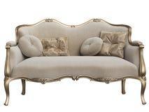 Sofá barroco clásico aislado en el fondo blanco libre illustration