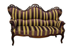 Sofá barroco do rokoko da listra Fotografia de Stock
