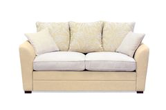 Sofá bege Imagem de Stock