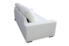 Sofá branco Imagens de Stock Royalty Free