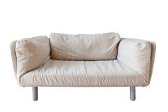 Sofá branco no fundo branco Imagem de Stock