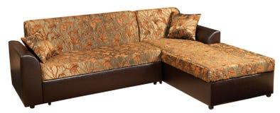Sofá-cama de la esquina moderna Imagenes de archivo
