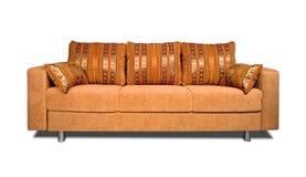Sofá com upholstery da tela foto de stock royalty free