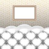 Sofá con el marco Foto de archivo