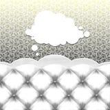 Sofá con la burbuja del pensamiento Imagenes de archivo