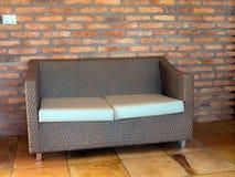 Sofá da palha Fotografia de Stock