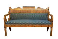 Sofá de Biedermeier isolado Imagens de Stock Royalty Free
