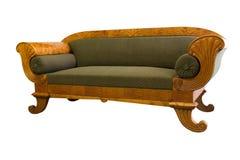 Sofá de Biedermeier isolado Imagem de Stock Royalty Free