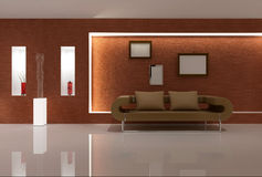 Sofá de Brown Foto de Stock Royalty Free