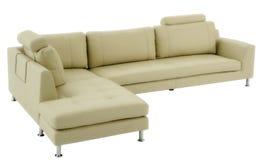 Sofá de canto de couro luxuoso Fotos de Stock