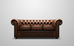 Sofá de Chesterfield Fotografia de Stock Royalty Free