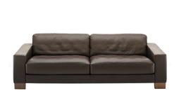 Sofá de couro de Brown Fotografia de Stock