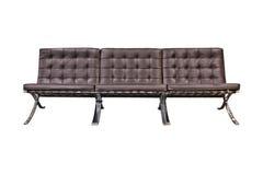 Sofá de couro do escritório Fotos de Stock