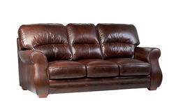 Sofá de couro luxuoso 2 Imagem de Stock Royalty Free
