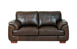 Sofá de couro luxuoso 3 Imagens de Stock Royalty Free