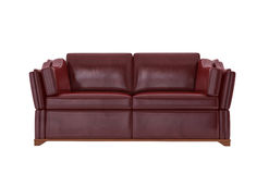 Sofá de couro vermelho Foto de Stock Royalty Free