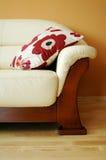 Sofá de cuero Foto de archivo libre de regalías