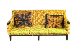 Sofá de cuero de lujo viejo Imagen de archivo