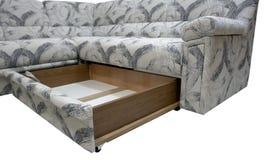 Sofá de la esquina moderno con el rectángulo Foto de archivo