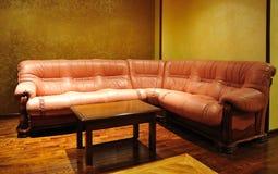 Sofá de lujo de cuero Foto de archivo