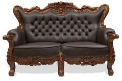 Sofá de madera tallado clásico Fotos de archivo