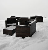 Sofá del invierno Imagenes de archivo