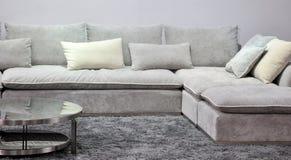 Sofá del paño en sala de estar Imagen de archivo libre de regalías