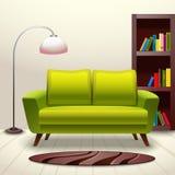 Sofá do design de interiores Fotos de Stock Royalty Free