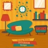 Sofá do design de interiores Fotos de Stock