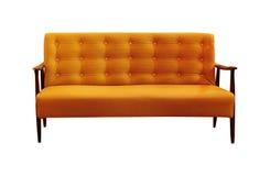 Sofá do vintage isolado no branco Foto de Stock Royalty Free