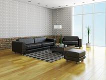 Sofá e poltrona Imagem de Stock
