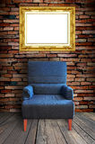Sofá e quadro Fotografia de Stock